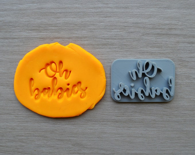 Oh Babies Imprint Cookie/Fondant/Soap/Embosser Stamp