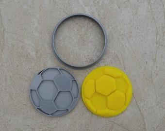 Soccerball Cookie Fondant Cutter & Stamp Fondant