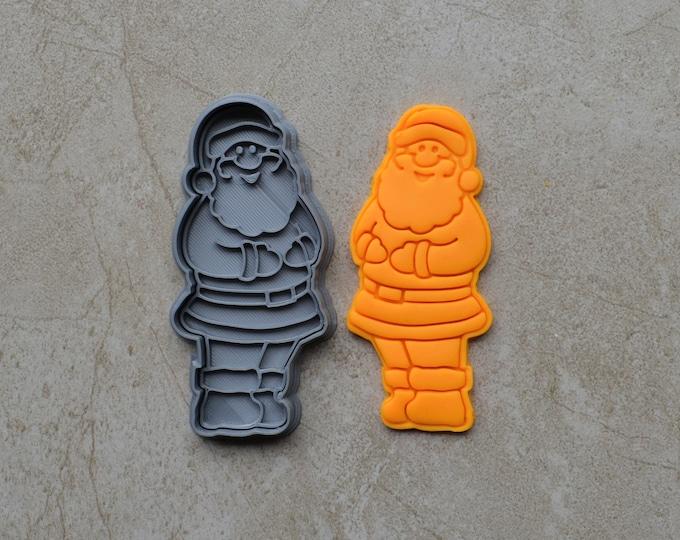 Santa Claus Christmas Cookie Fondant Cutter & Stamp Fondant