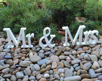 Mr & Mrs Wedding Sign Font 1 - Sweetheart Table Sign