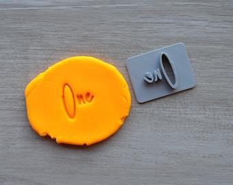 One First Birthday 1st Birthday Imprint Font 4 Cookie/Fondant/Soap/Embosser Stamp
