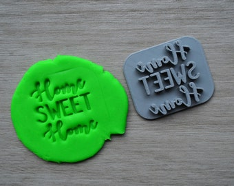 Home Sweet Home Imprint Cookie/Fondant/Soap/Embosser Stamp