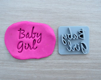 Baby Girl Font 3 Imprint Cookie/Fondant/Soap/Embosser Stamp