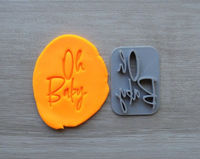 Oh Baby Font 4 Imprint Cookie/Fondant/Soap/Embosser Stamp