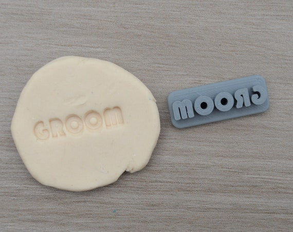 Groom Imprint 3.1cm Cookie/Fondant/Soap/Embosser Stamp