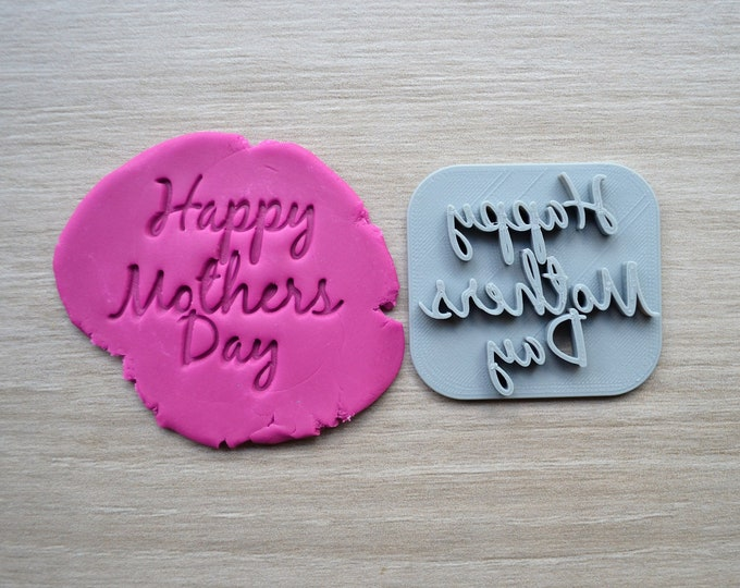 Happy Mothers Day Font 2 Imprint Cookie/Fondant/Soap/Embosser Stamp