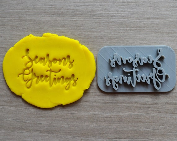 Seasons Greetings Imprint Cookie/Fondant/Soap/Embosser Stamp