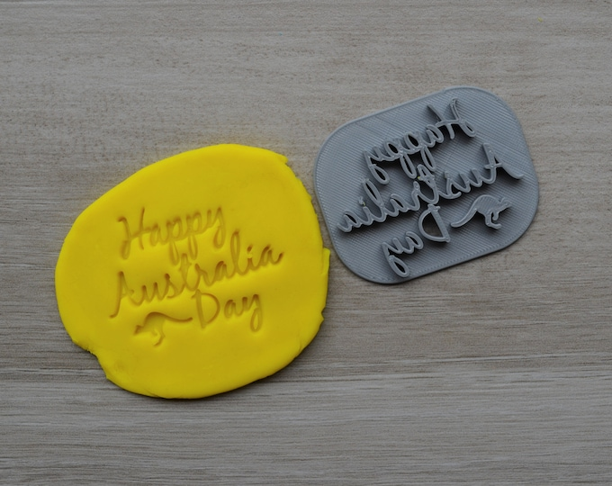 Happy Australia Day Imprint Cookie/Fondant/Soap/Embosser Stamp
