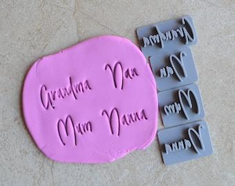 Grandma Nan Mum Nanna Imprint Cookie/Fondant/Soap/Embosser Stamp