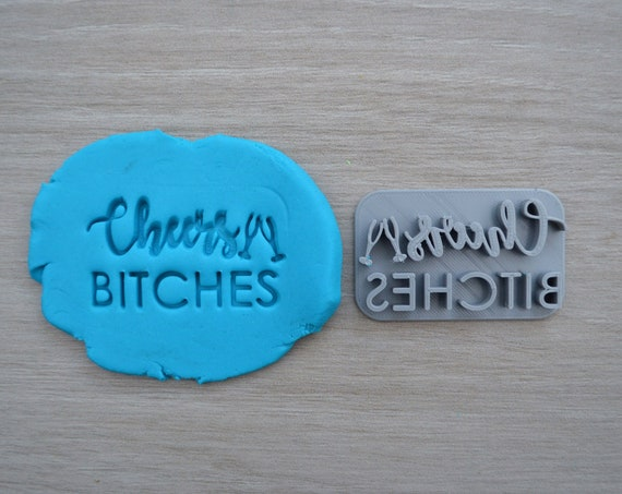 Cheers Bitches Imprint Cookie/Fondant/Soap/Embosser Stamp
