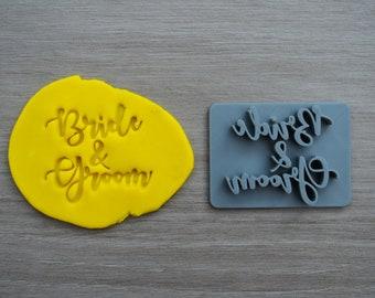 Bride & Groom Imprint Cookie/Fondant/Soap/Embosser Stamp