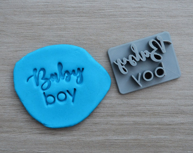 Baby Boy Imprint Font 2 Cookie/Fondant/Soap/Embosser Stamp