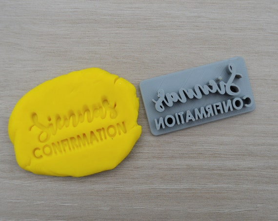 Confirmation Custom Name Imprint Personalized Cookie/Fondant/Soap/Embosser Stamp