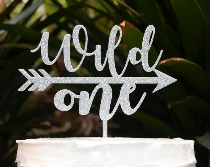 Wild One Arrow Cake Topper - 1st Birthday Party - Assorted Colours