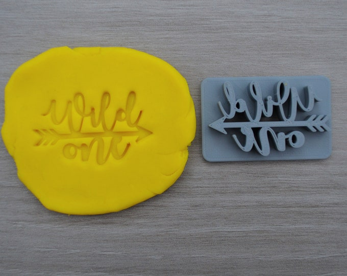 Wild One Arrow 1st Font 2 Birthday Imprint Cookie/Fondant/Soap/Embosser Stamp