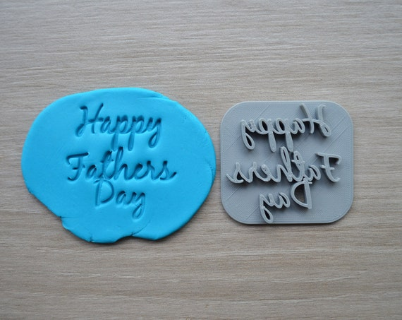 Happy Fathers Day Font 2 Imprint Cookie/Fondant/Soap/Embosser Stamp