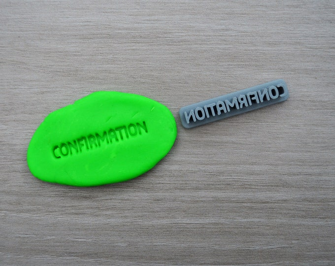 Confirmation Imprint Cookie/Fondant/Soap/Embosser Stamp