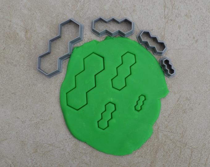 Hexagon V2 Polymer Clay Cutter Set Cookie Fondant Cutters