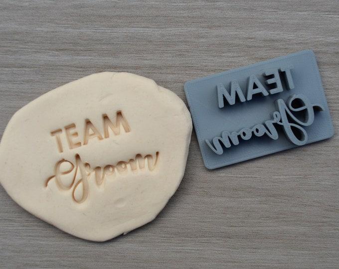 Team Groom Imprint Cookie/Fondant/Soap/Embosser Stamp