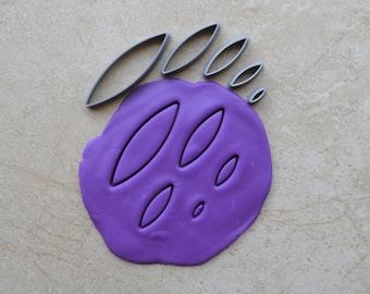 Surfboard Shape Polymer Clay Cutter Set Cookie Fondant Cutters