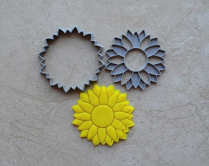 Sunflower Cookie Fondant Cutter & Stamp Fondant