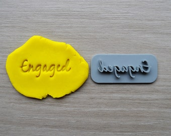 Engaged Font 3 Imprint Cookie/Fondant/Soap/Embosser Stamp