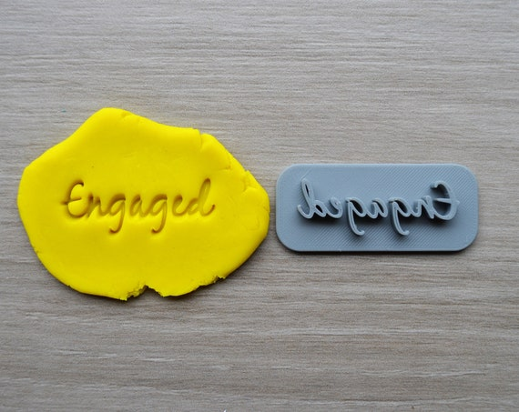 Engaged Font 3 Imprint Cookie/Fondant/Soap/Embosser Stamp