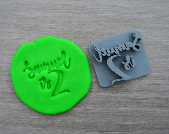 Age 2 Custom/Personalized Name Cookie/Fondant/Soap/Embosser Stamp