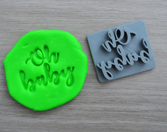 Oh Baby Font 2 Imprint Cookie 4.5cm/Fondant/Soap/Embosser Stamp