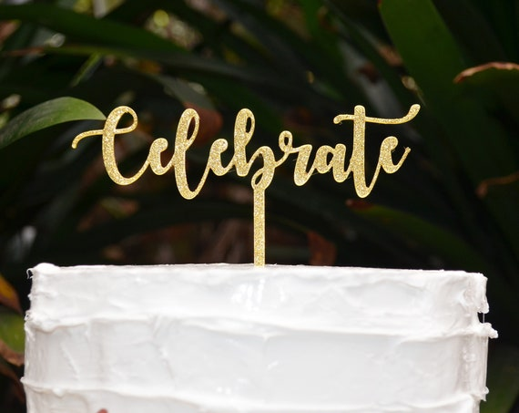 Celebrate Cake Topper - Assorted Colours