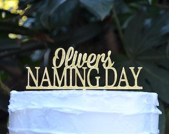 Naming Day Custom Personalized Name Cake Topper