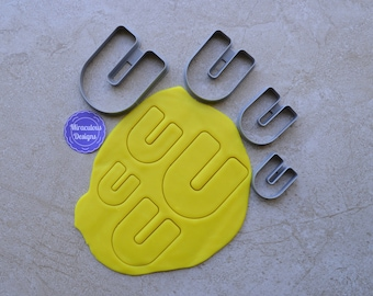 Magnet U Shape Polymer Clay Cutter Set Cookie Fondant Cutters