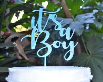 Its a Boy Cake Topper Font 2 - Baby Shower Cake Topper - Baby Boy Cake Topper