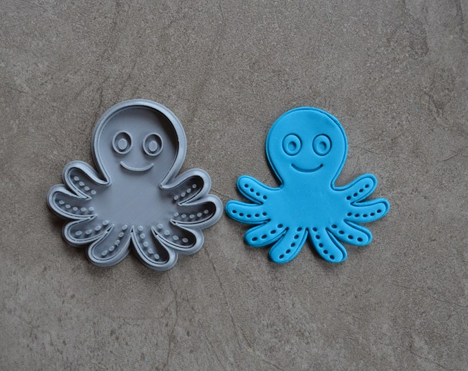 Octopus Cookie Fondant Cutter & Stamp Fondant