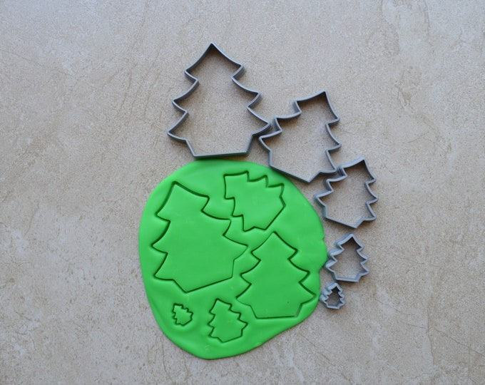 Tree Polymer Clay Cutter Set Cookie Fondant Cutters