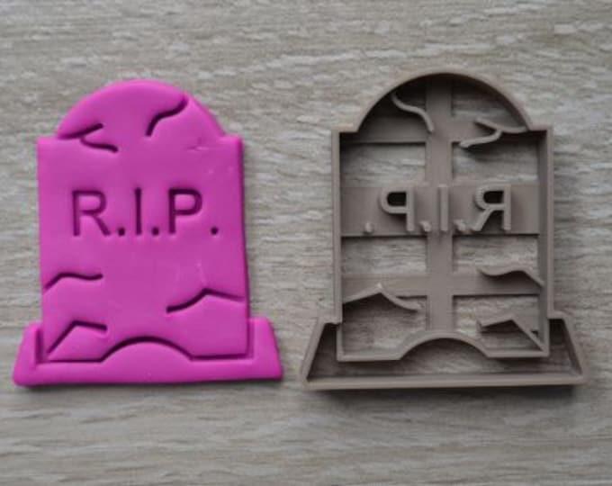 Tombstone Halloween RIP Cookie Cutter Fondant Cutter