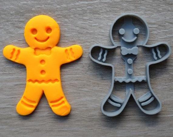 Gingerbread Man Christmas Cookie Cutter Fondant Cutter Cake Topper