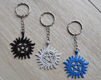 Protection Tattoo Charm - Keyring Keychain Bag Clip - Pentacle