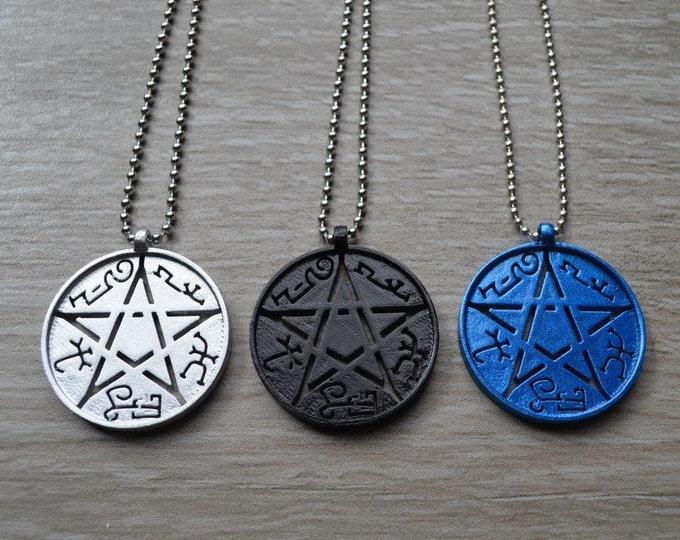 Devil's Trap - Necklace Pendant - Pentacle