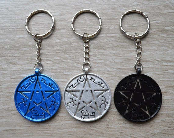 Devil's Trap Keyring Keychain Bag clip - Pentacle
