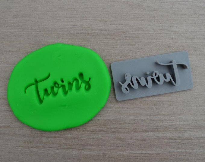 Twins Imprint Cookie/Fondant/Soap/Embosser Stamp