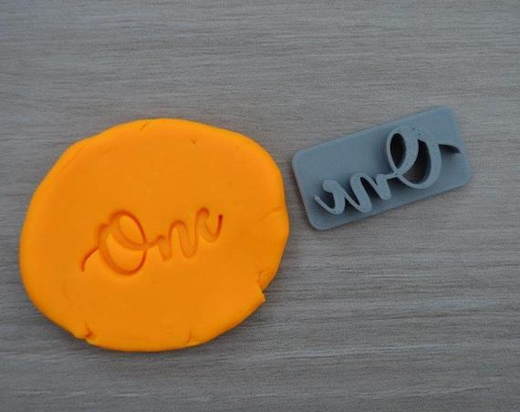 One First Birthday 1st Birthday Font 2 Imprint Cookie/Fondant/Soap/Embosser Stamp