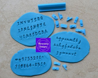 Script Sets Size 1 Font 1 - Individual Letters Number Special Characters Cookie Fondant Stamp Embosser