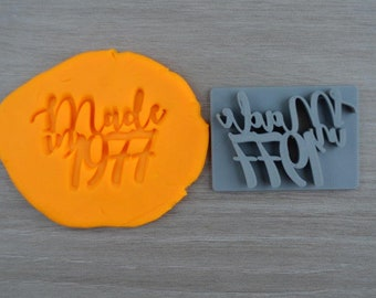 Made in Year Custom/Personalized Year Imprint Cookie/Fondant/Soap/Embosser Stamp