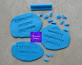 Elegant Sets Size 1 - Individual Letters Number Special Characters Cookie Fondant Stamp Embosser
