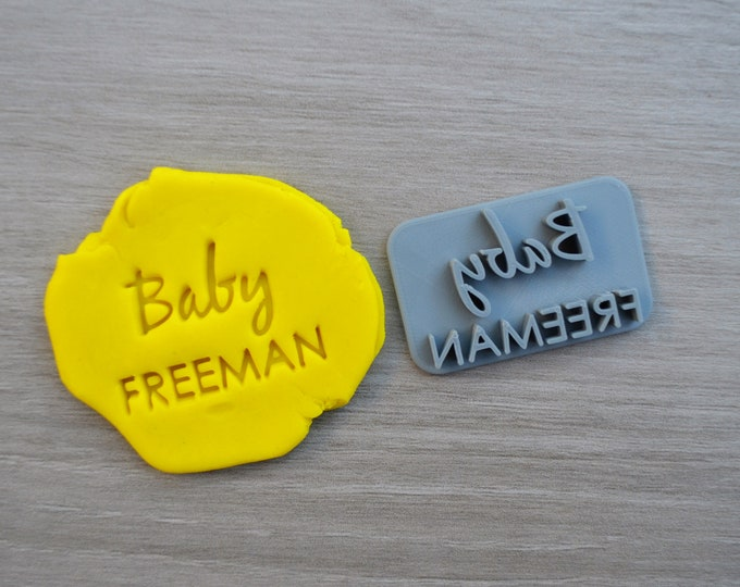 Baby Name Imprint Font 2 Custom Personalized Cookie/Fondant/Soap/Embosser Stamp