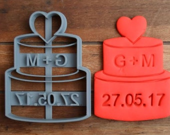 Wedding Cake Bridal Anniversary Engagement Party Cookie Cutter Fondant Cutter Party Favor Custom/Personalised