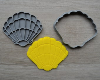 Seashell Cookie Fondant Cutter & Stamp Fondant
