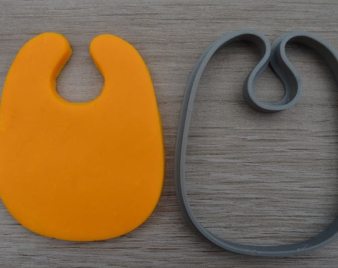 Baby Bib Outline Cookie Cutter Fondant Cutter