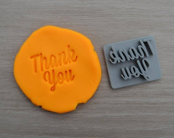 Thank You Font 1 Imprint Cookie/Fondant/Soap/Embosser Stamp